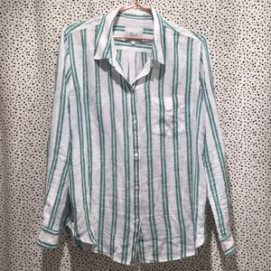 Rails charli cordoba stripe linen blend button